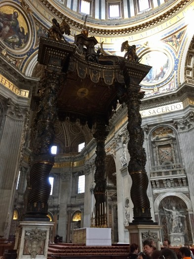 structure over the high altar in St. Peters