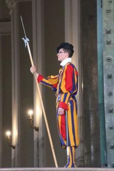 Swiss guard holding a staff