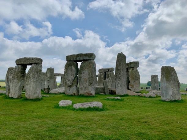 Stonehenge with clouds