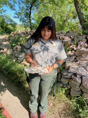 Park ranger Gabrielle Drapeau of Pipestone National Monument