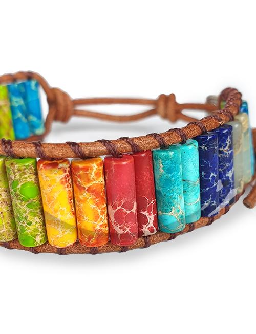 Handgemaakte Chakra Jaspis Armband Natuursteen