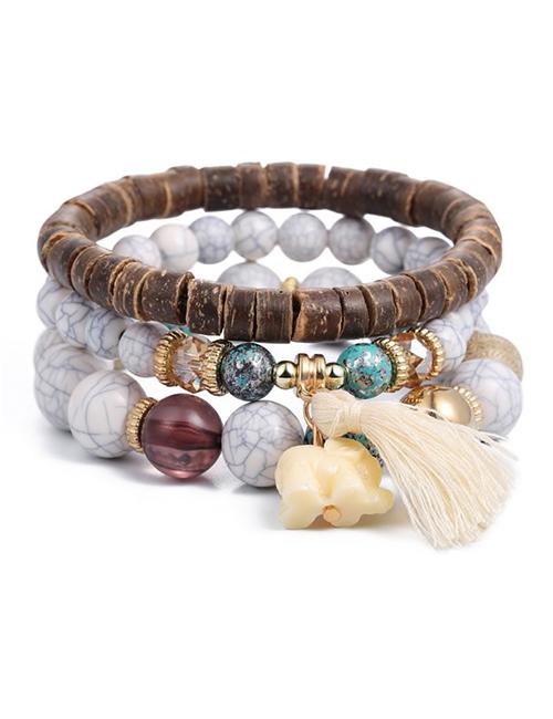 Bohemian-Boeddhistische-Olifant-Kwastje-Armbanden