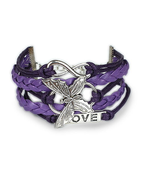 Inifnity-Onsterfelijke-Ziel Vlinder-Paarse-armband