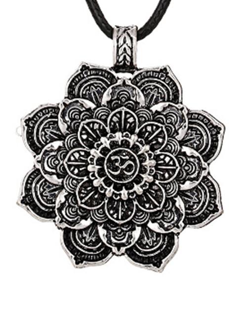 Ohm-mantra Mandala Medidatie Lotus ketting
