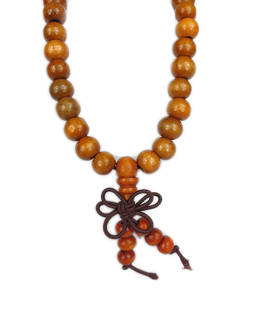 TibetaansBoeddhistische-Mala-bruin