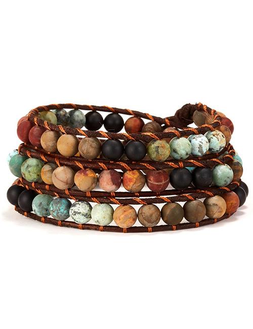 Boeddhistische Wikkelarmband