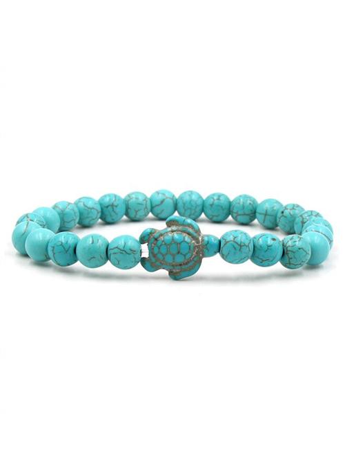 Boeddhistische turqueniet howliet schildpad armband