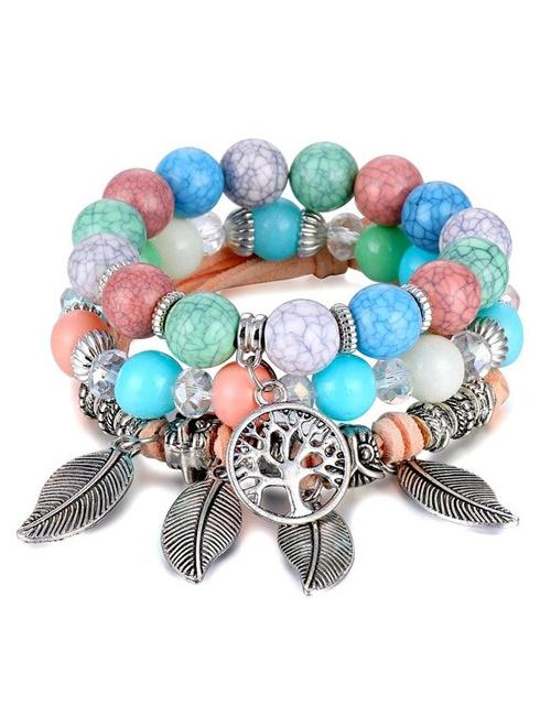 Multicolor Tree of Life Balans armbanden