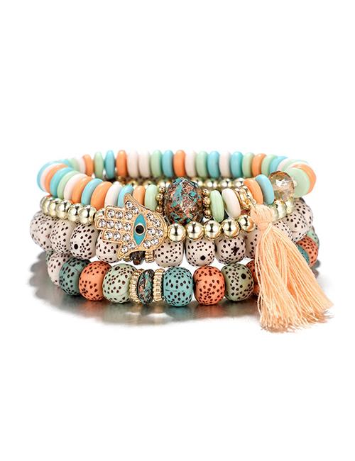 Multicolor Bohemian Hamsa armbanden
