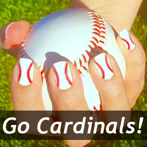 St Louis Cardinals Baseball Nails