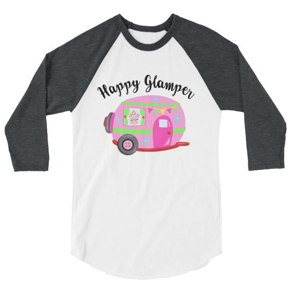 It's All Fun and Games Until Somebody Looses Their Weiner, Happy Camper, Happy Glamper 3/4 Sleeve Raglan Baseball T Shirt, colored sleeves, different colour sleeve, LGBTQ, Rainbow Lips, Rainbow shirts, shirt shirts, & t shirts, t shirt apparel, Anti-Trump, Political tee, political shirt, protest tee, protest t-shirt, protest shirt, cool graphic funny shirt, funny shirts for teenagers, Camping Shirt, Glamping T-Shirt, Camping Tee, Camper, RV, Trailer, Funny Camping Shirt, I love Glamping sirt, glamping, glamp, glamper, camp, camping, camper, campfire, roasting marshmallows, marshmallow, hot dog, weiner, weiner roasting stick, tent, lantern, sleeping bag, canteen, outdoor, sleeping under the stars, comical funniest t-shirt, funky workout shirt, weightlifting, weightlifter, runner, running, clothing, Outdoor wilderness camping apparel by Spirit West Designs, Why fit in when you can stand out!