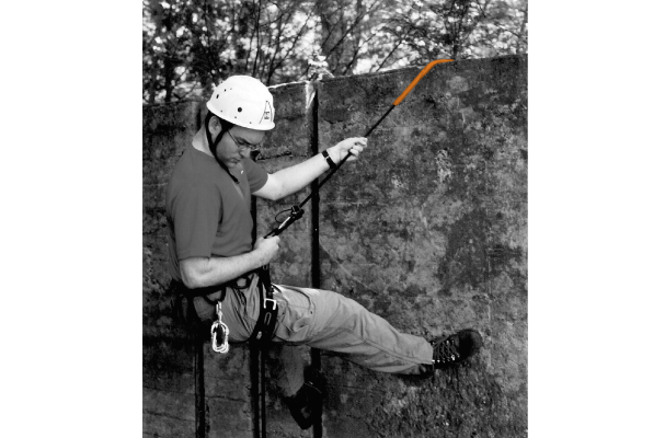 Spiroll Rope Protector rappelling