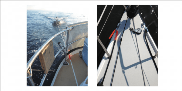 Spiroll chafe guard on boat
