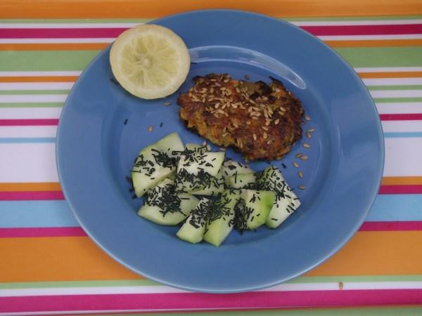 Galette de légumes (carottes, courgettes, pomme de terre) - Concombres