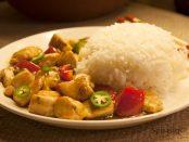 perfekt kokt basmati ris og kylling
