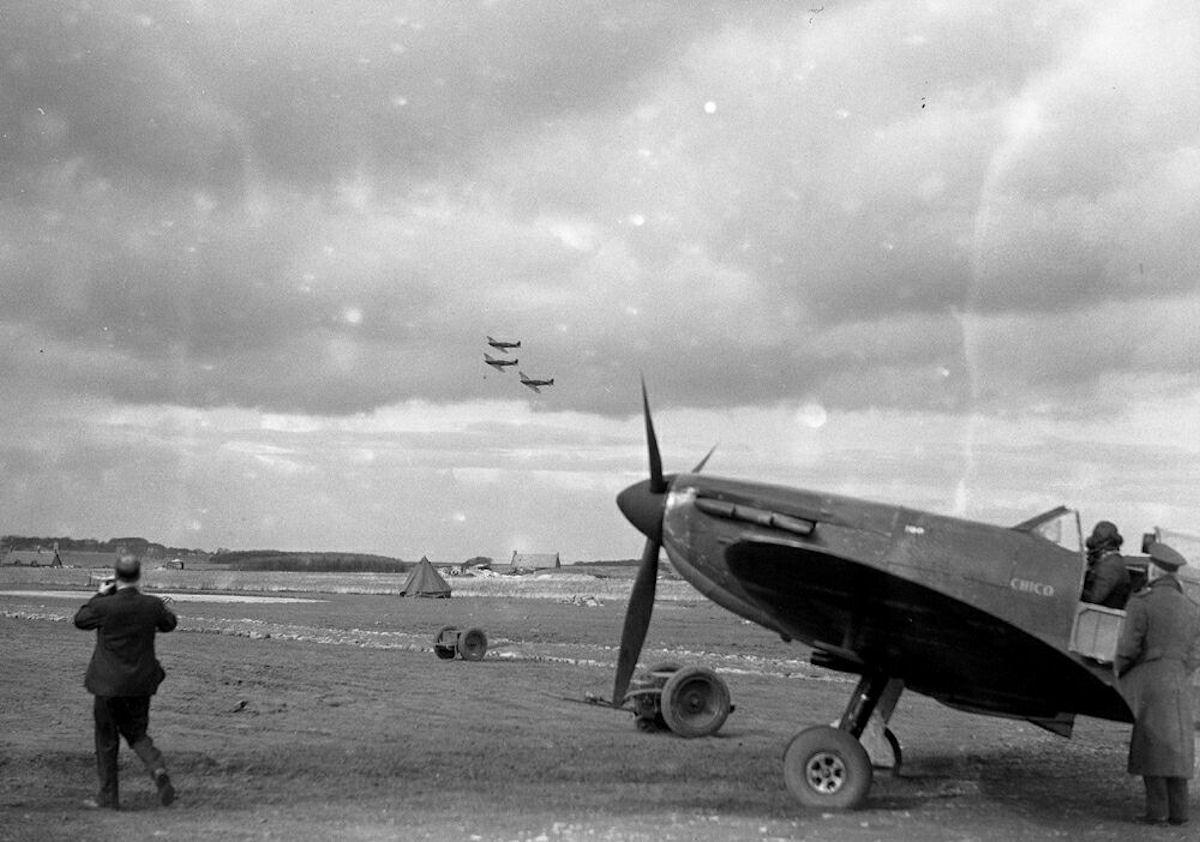 Spitfire en tierra
