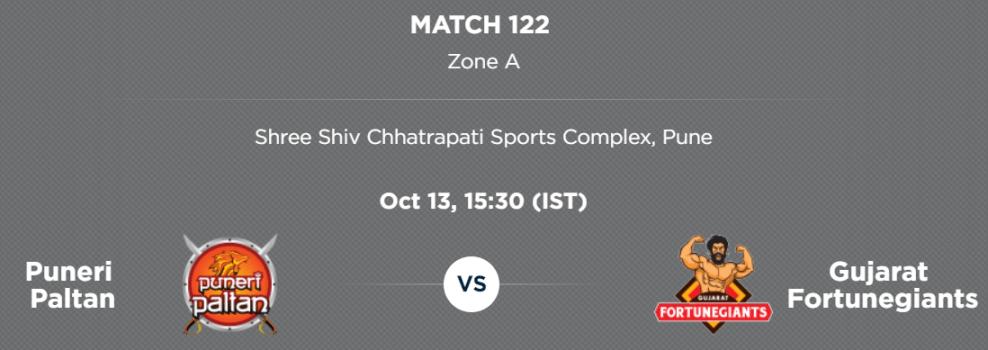 PKL5 Match 122 preview: Puneri Paltan v Gujarat Fortunegiants