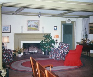 One of the sitting rooms at Lavender Hall