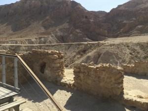 Qumran building wall ruins