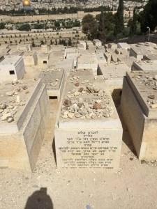 Jewish cemetery grave showing memorial stones