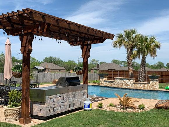 outdoor cabana patio pergola