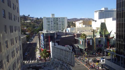 From our window - Hollywood Blvd