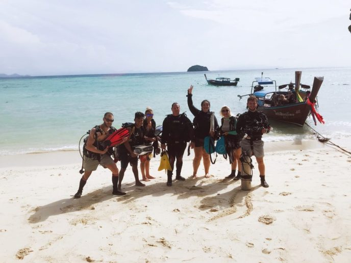 dive team at Adang Sea Divers and Eco Lodge on Koh Lipe