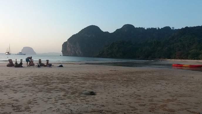 Yoga Class on Had Farang Beach on Koh Mook, Trang Province