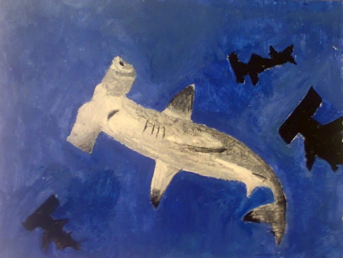 hammerhead shark painting