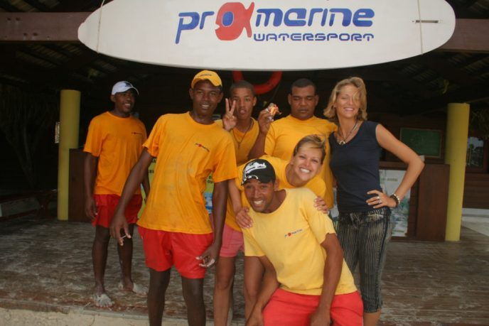 Dive team & my colleagues on Dominican Republic