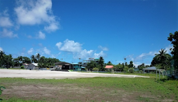 local soccer field at Rasdhoo Island
