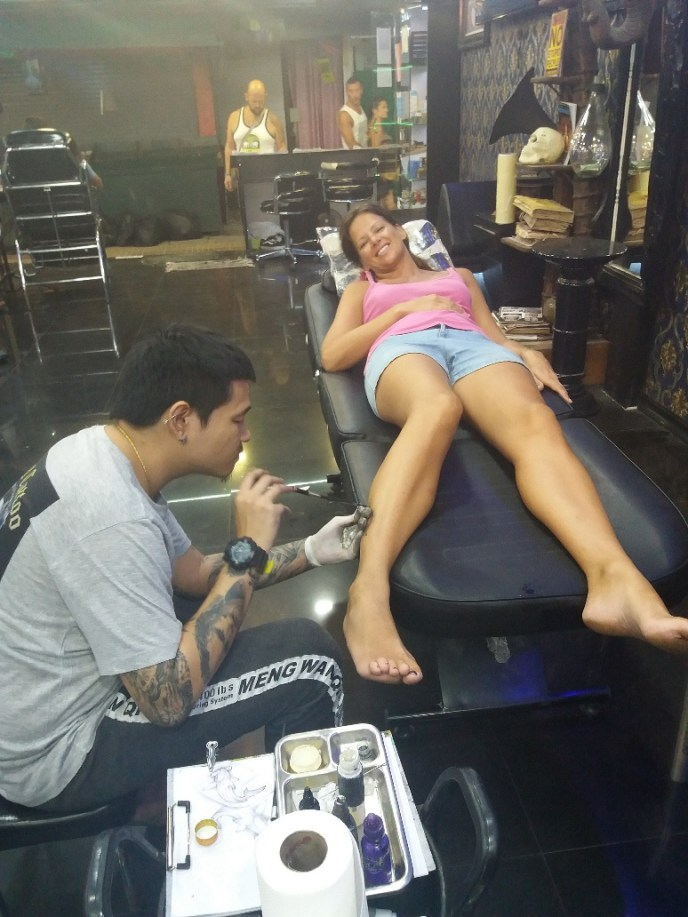 Getting inked on the Phi Phi Islands