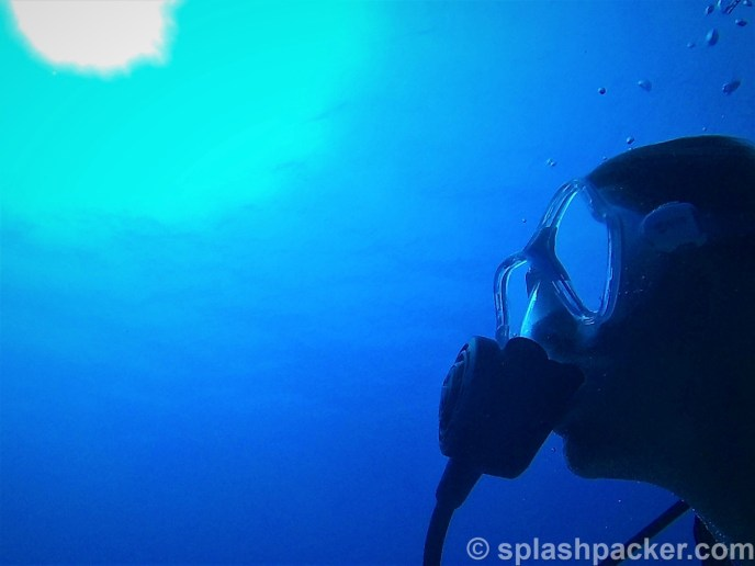 Selfie with my Nikon Coolpix dive camera