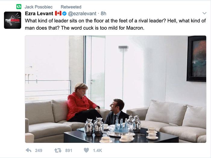 Ezra Levant tweet