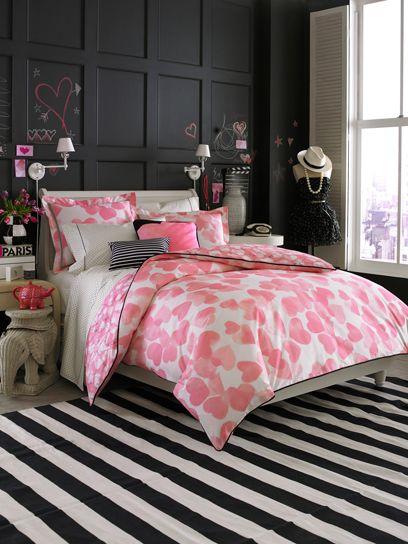 pink black bedroom teen vogue
