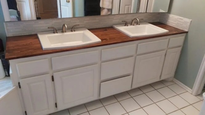 How To Make A Wooden Countertop For Your Bathroom New Sink