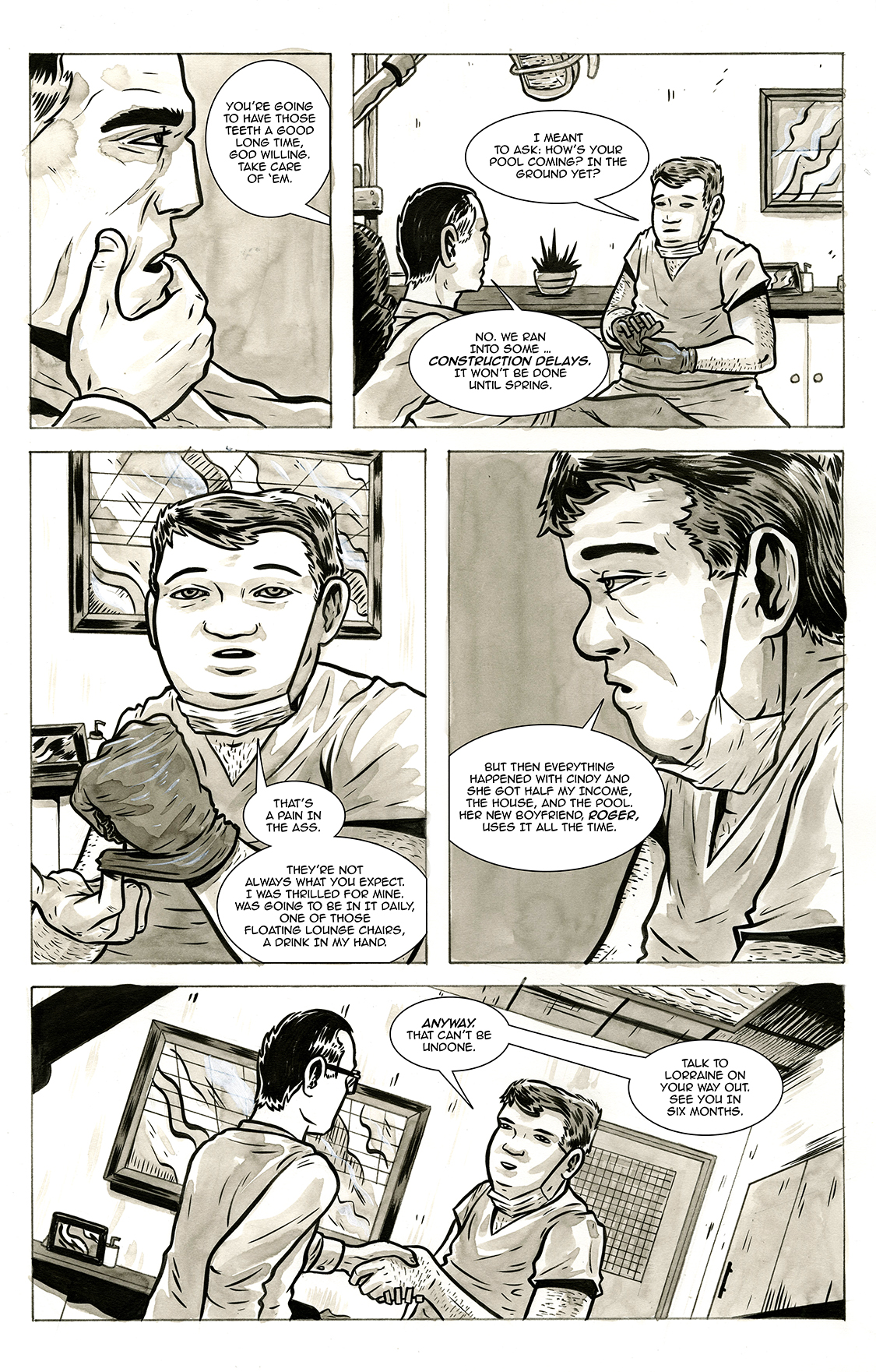 Lone and Level, page 22, by Sam Costello and Max Temescu