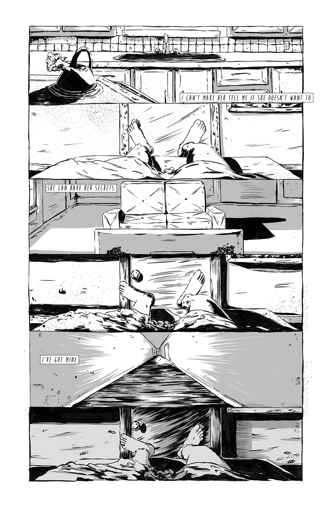 Eight Days Alone, page 13, by Sam Costello and Matthew Goik