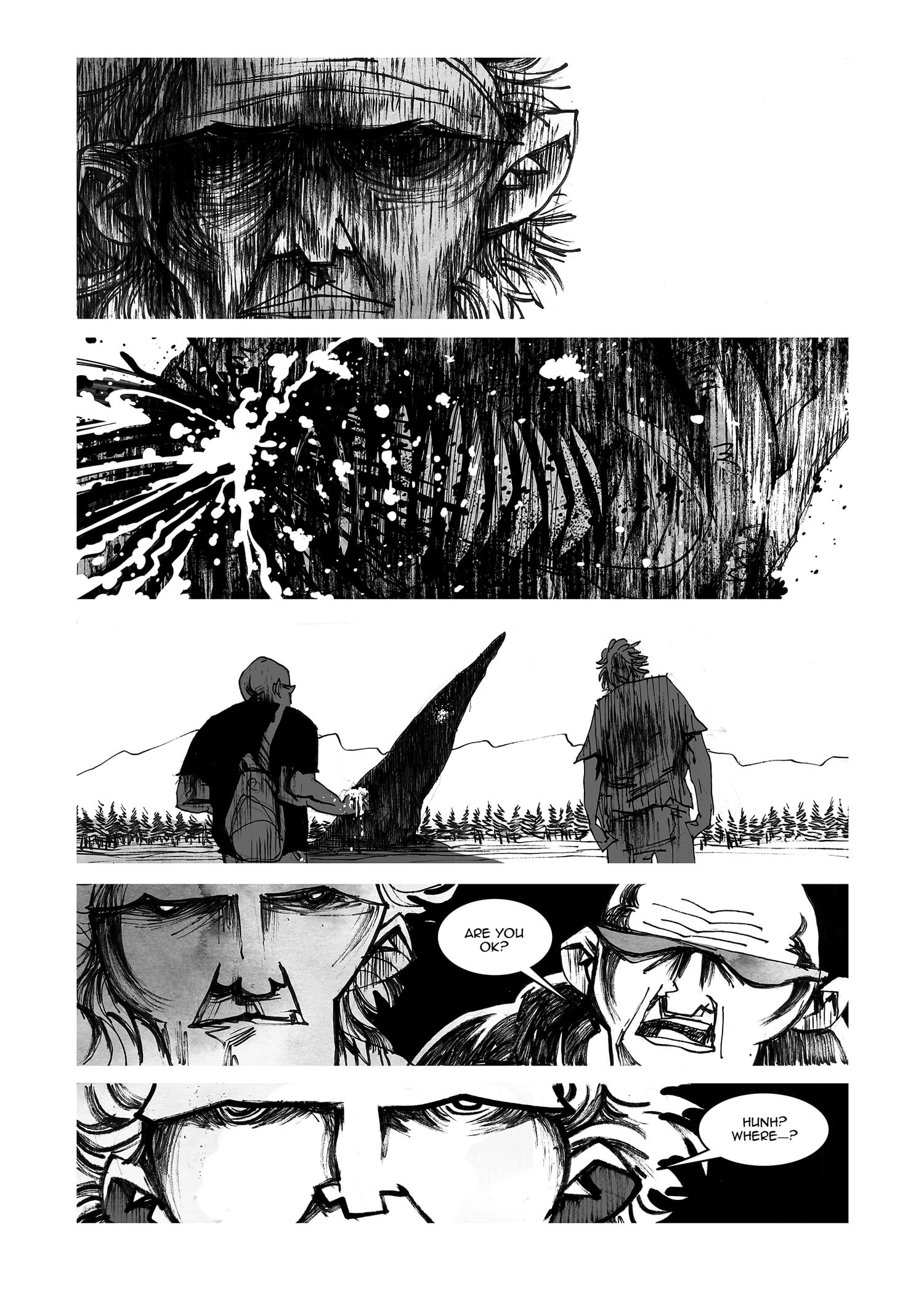 Face of Fire, Belly of Blood, page 22, by Sam Costello and Ege Avci