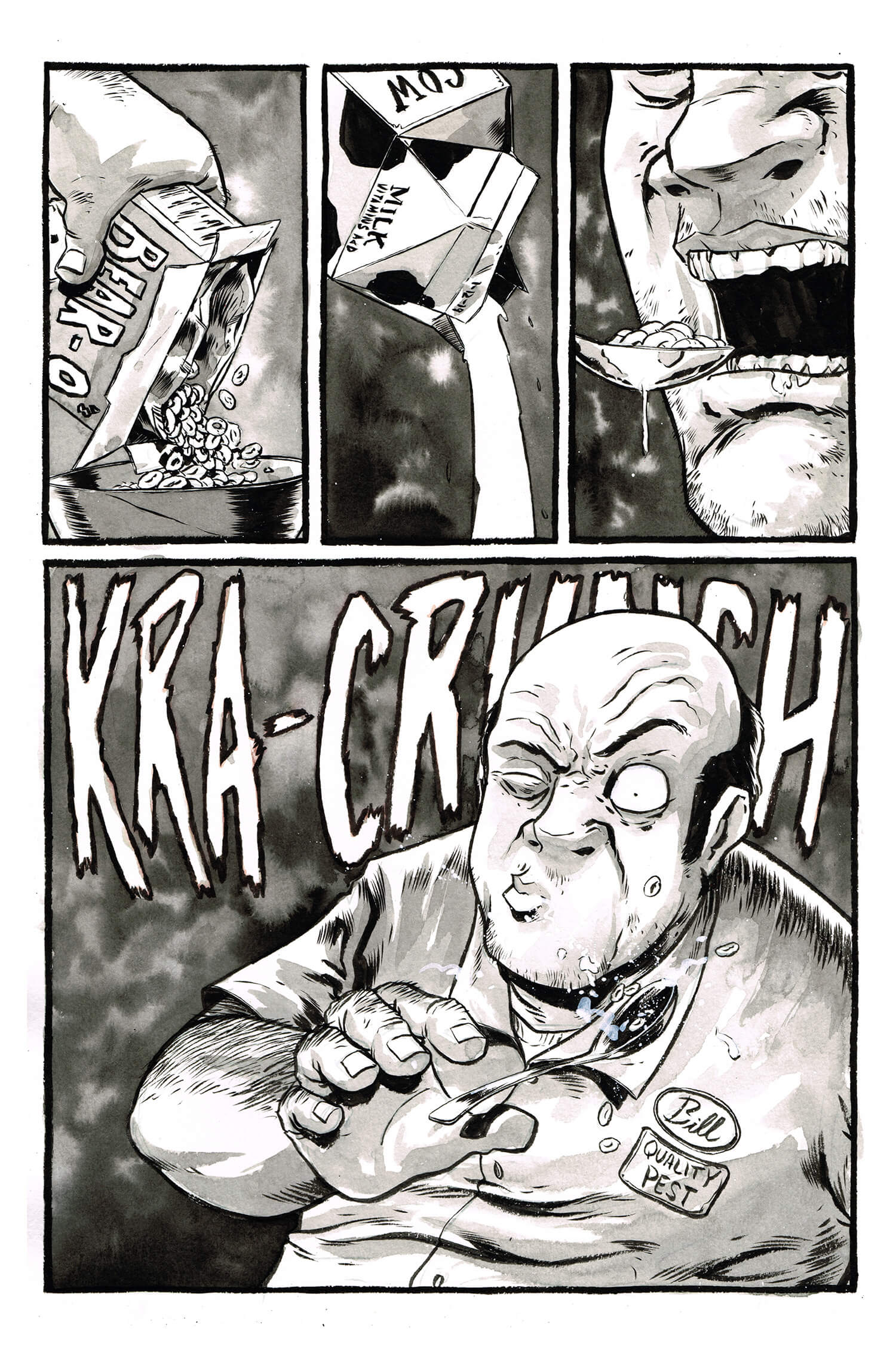 The Exterminator, page 1, by Sam Costello and Kelly Williams