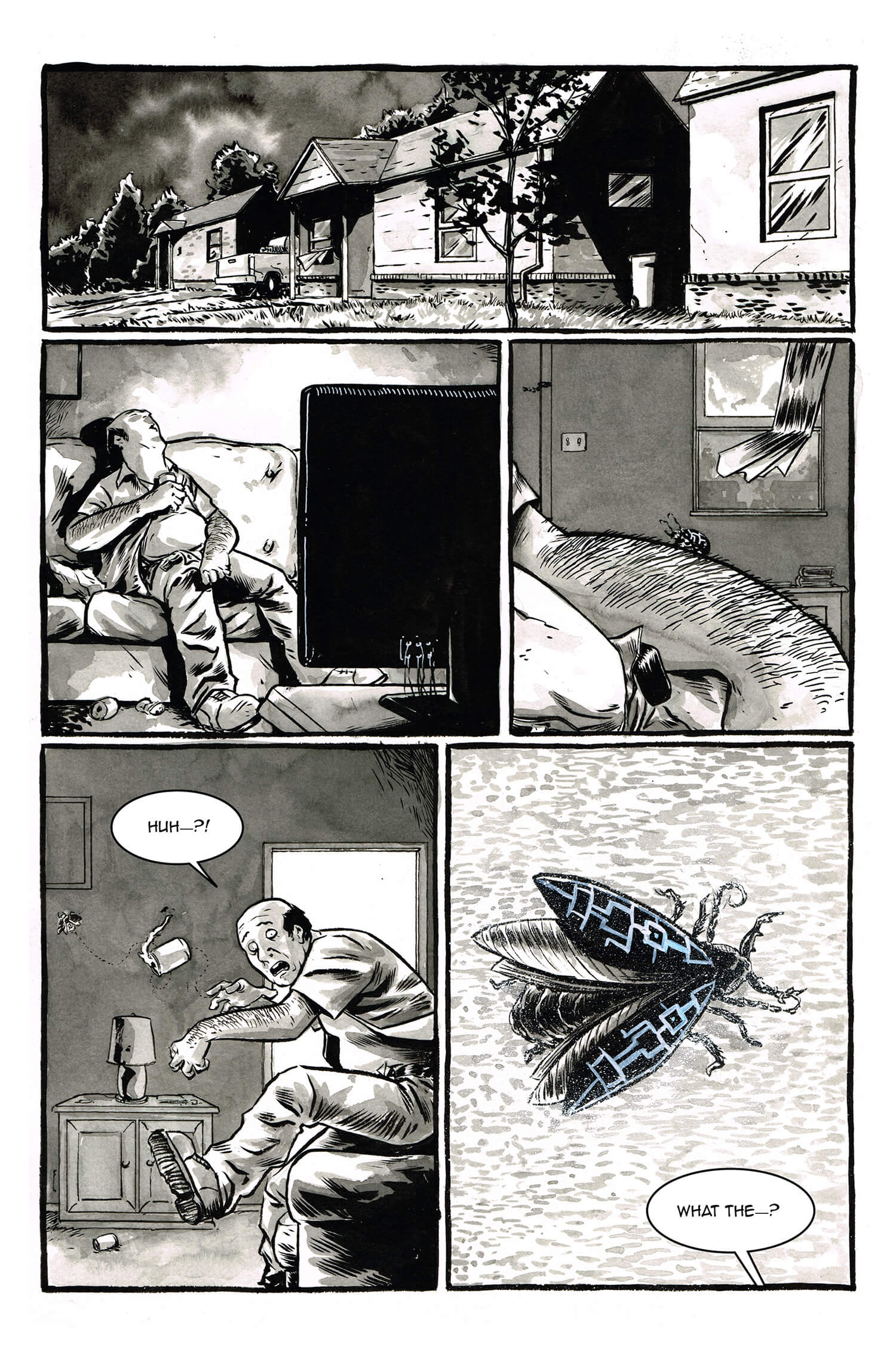 The Exterminator, page 5, by Sam Costello and Kelly Williams