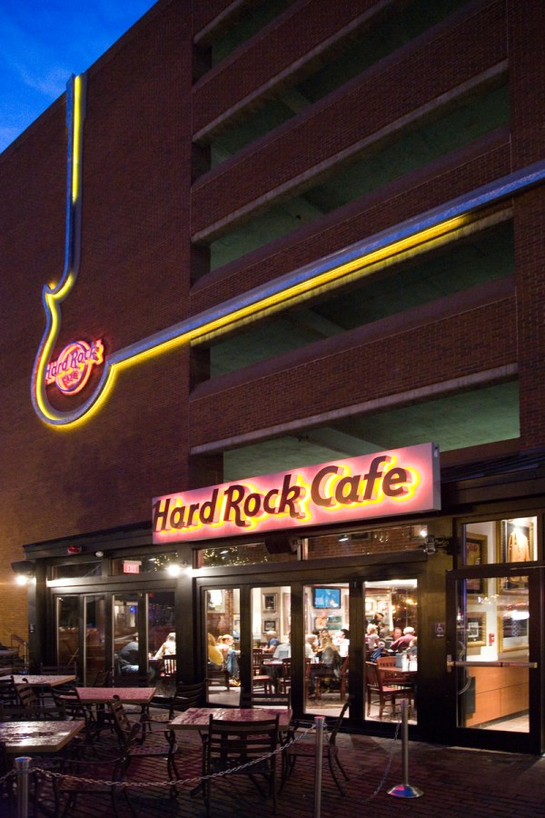 The Signage Of Negative Space: Hard Rock Cafe