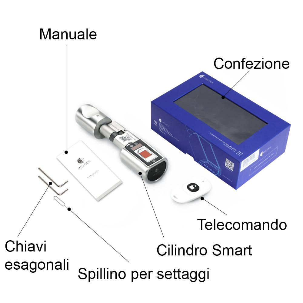 contenuto della confezione serratura smart