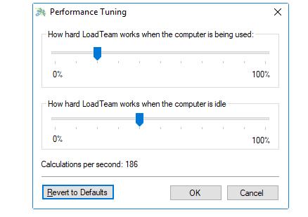 modificare velocita di calcolo Lad team per guadagnare di piu