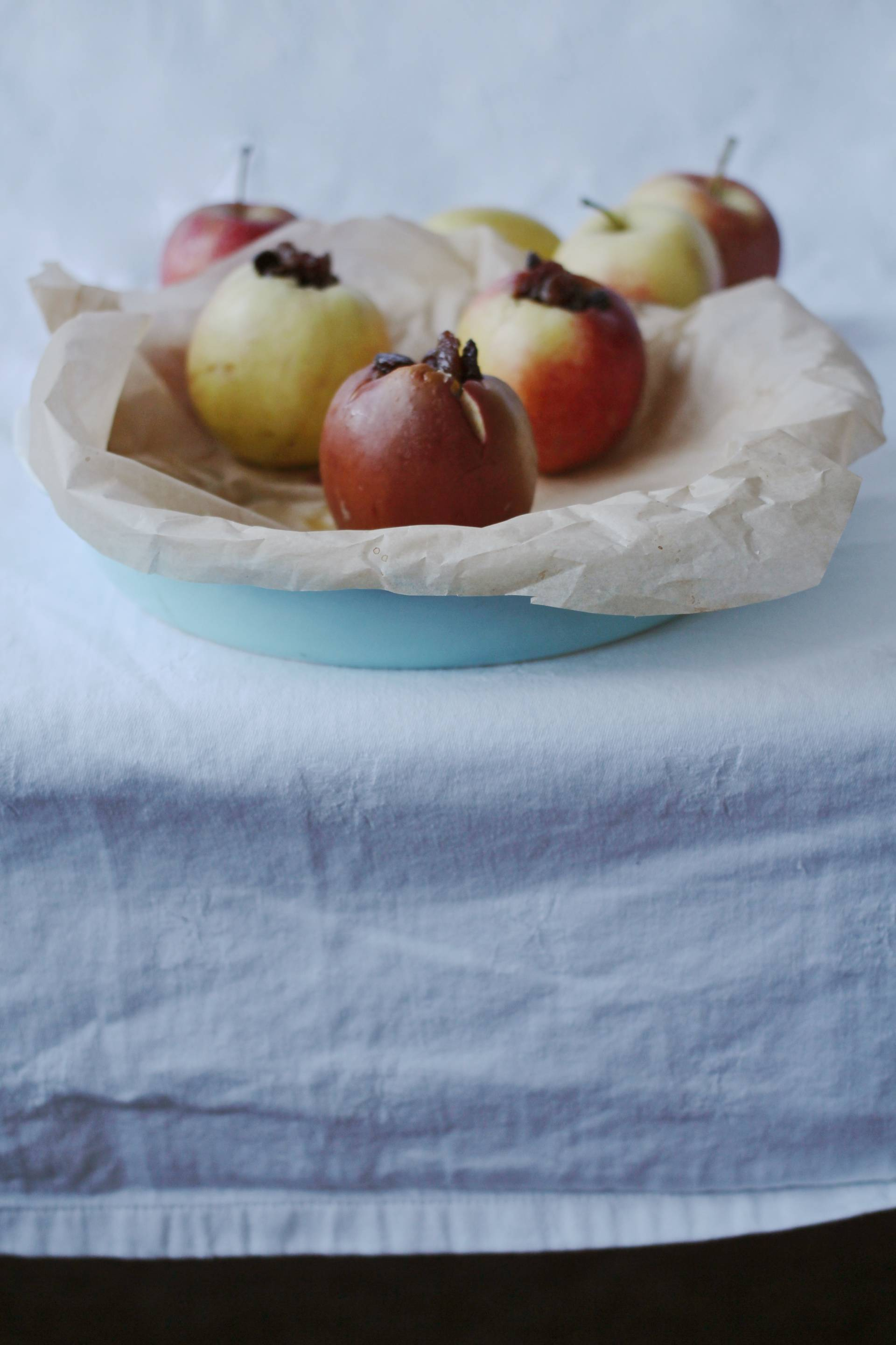 Baked apples stuffed with rasins