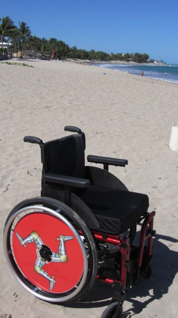 Isle of Man Flag SpokeGuards Wheelchair Wheel Covers