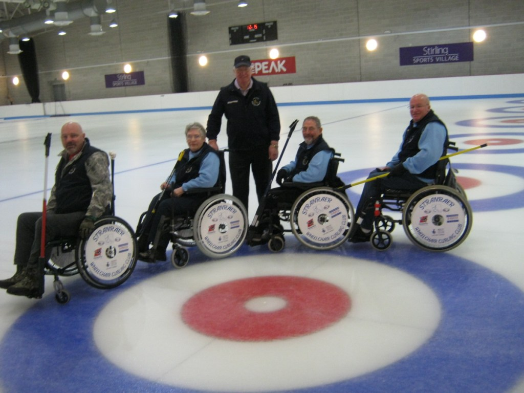 Stranraer Wheelchair Curling Club Wheel Covers SpokeGuards