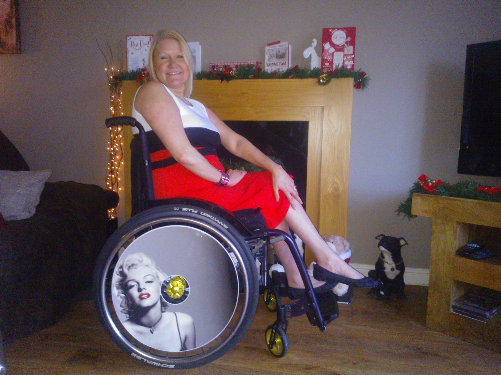 Marilyn Monroe Wheelchair Wheel Covers SpokeGuards