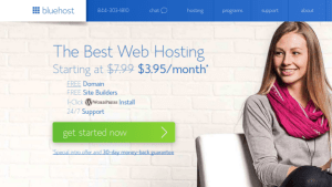 Get the bluehost wordpress hosting DEAL with Free Domain, Easy wordpress management and Cheap price