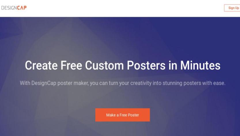 designcap the best online poster maker that helps you make